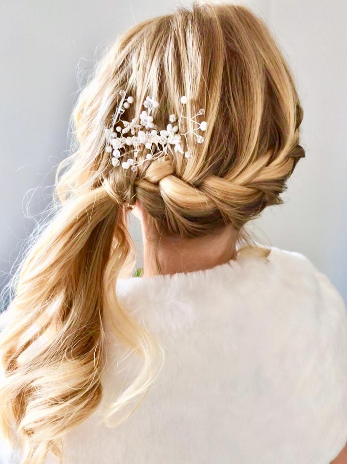 Beautiful Bridesmaids Side French Braid