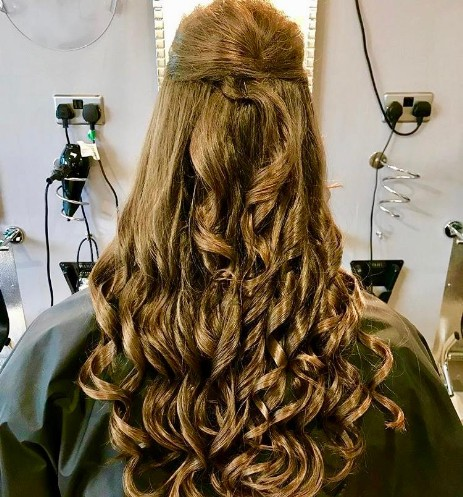 Half Up Half Down with Curls
