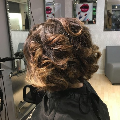 Layered Bob with Bouncy Blow